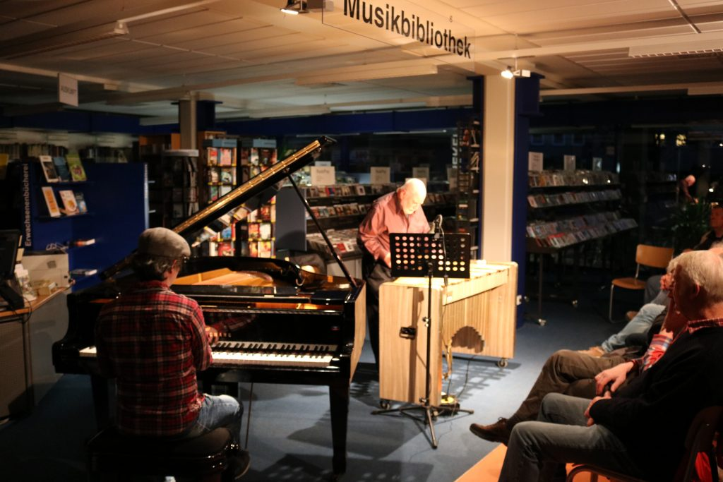 Wolfgang Schlüter mit Vibraphon
