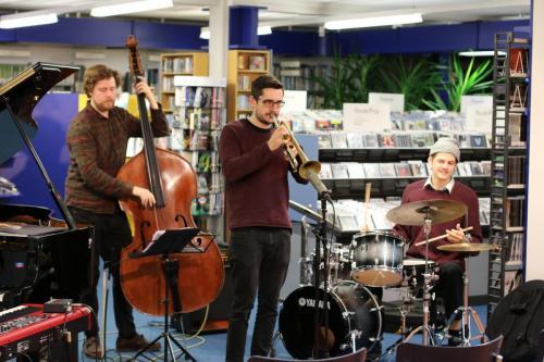 Jazz in der Buecherei 15.11.2019 Maik Krahl Quartett