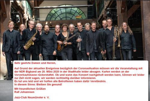 04 NDR Bigband ABSAGE wg. Coronaris